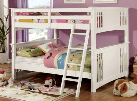 Furniture of America CMBK603WHBED Spring Creek Series  Full Size Bunk Bed