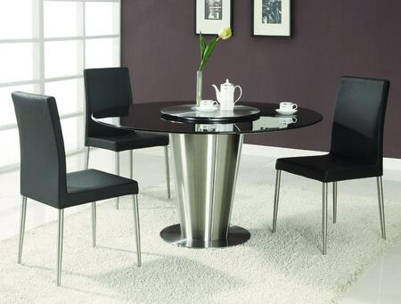 Chintaly DAWN5PIECESETBLACK Dawn Dining Room Sets