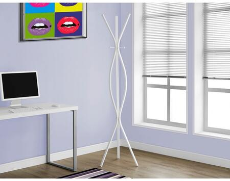 """Monarch I 205X 72"""" Coat Rack with 2 Hanging Pegs, Contemporary Design and 3 Hooks"""