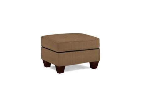 """Broyhill Maddie Collection 6517-5QX 27"""" Ottoman with Fabric Upholstery, Tapered Feet, Piped Stitching and Contemporary Style in"""