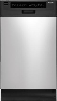 "Frigidaire FFBD1821MS 18"" 1800 Series Built In Full Console Dishwasher with 10 Place Settings Place Settingin Stainless Steel"