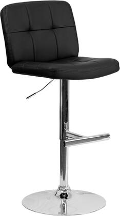 """Flash Furniture 39""""-48"""" Bar Stool with Swivel Seat, Chrome Base, Footrest, Gas Lift Adjustable Height, CA117 Fire Retardant Foam and Vinyl Upholstery in"""