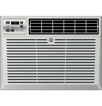 GE AEMxDV Energy Star Qualified Air Conditioner with x Cooling BTU, EZ Mount Window Kit, and Remote Control, in Light Cool Gray
