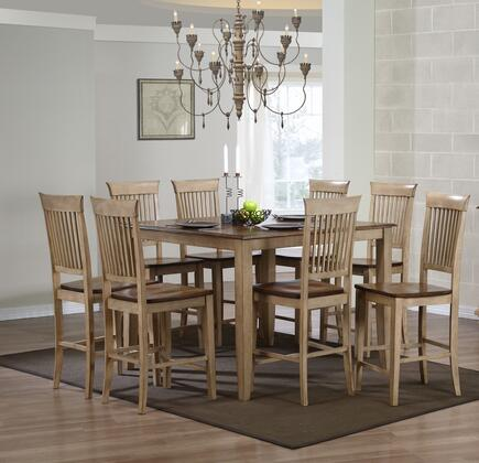 Sunset Trading DLUBR4848CBB70PW9PC Brook Dining Room Sets