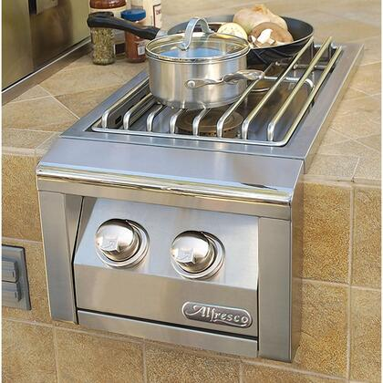Alfresco AXESB-2C-LP Liquid Propane Double Side Burner for Cart in Stainless Steel