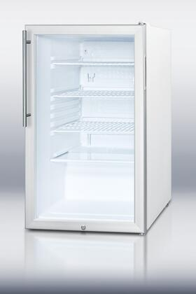 Summit SCR450LHV  Compact Refrigerator with 4.1 cu. ft. Capacity in Stainless Steel