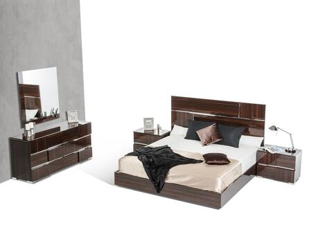 VIG Furniture VGACPICASSOSETEBONYCK Modrest Picasso Series 5 Piece Bedroom Set