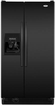 """Whirlpool ED5DHEXW 30"""" 25.3 cu. ft. Side by Side Refrigerator with Adjustable SpillGuard Glass Shelves, Adjustable Opaque Gallon Door Bins, Snack Pan and Adaptive Defrost System,"""