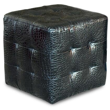 Diamond Sofa ZENCUBECROCB Zen Series Contemporary Vinyl Ottoman