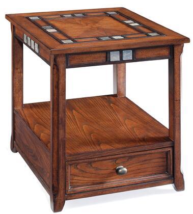 Magnussen T153603 Braeburn Series  Rectangular 1 Drawers End Table