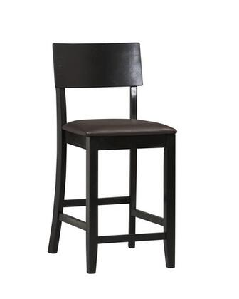Linon 01854BLK01KDU Torino Series Commircial or Residential Black PVC Upholstered Bar Stool