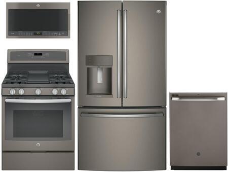 GE Profile 1089029 4 piece Slate Kitchen Appliances Package
