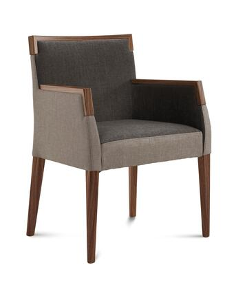 Domitalia ARIELPIK0NCFTD1 Ariel Series Contemporary Fabric Wood Frame Dining Room Chair