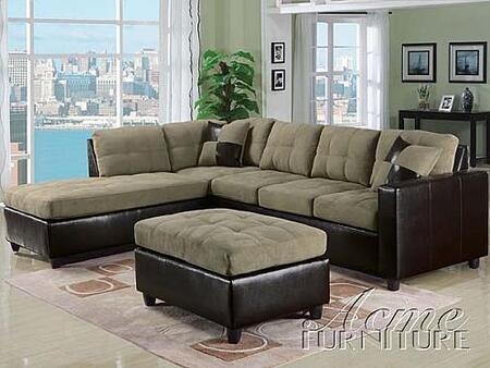 Acme Furniture 15205 Milano Series  Faux Leather Sofa