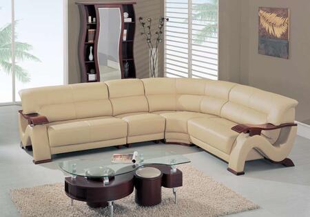 Global Furniture USA 2033RVCAPSEC  Leather Sofa