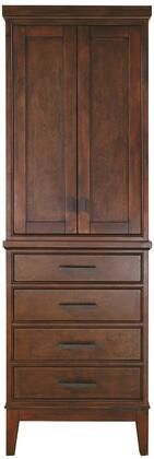 """Avanity Madison MADISON-LT24 24"""" Linen Tower with 2 Soft Close Doors, 4 Soft Close Drawers, X Hardware, and Adjustable Height Levelers in"""