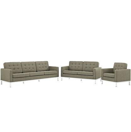 Modway EEI2441OATSET Fabric Living Room Set