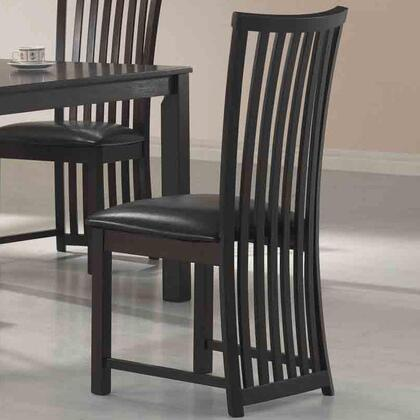 Coaster 103232 Hayden Series Casual Vinyl Wood Frame Dining Room Chair