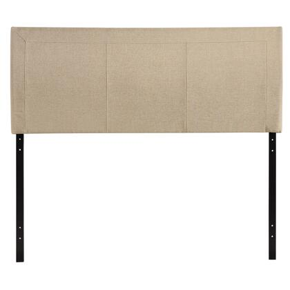 Modway MOD-5XXX Isabella Contemporary Queen Size Headboard with an Array of Three Columns, LVL, MDF and Plywood Frame, and Fine Vinyl Upholstery in