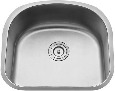 """Kraus KBU10KPF1612KSD30 Premier Series 23"""" Undermount Single-Bowl Kitchen Sink with Stainless Steel Construction, Sound Insulation, and Included Pull-Down Kitchen Faucet"""
