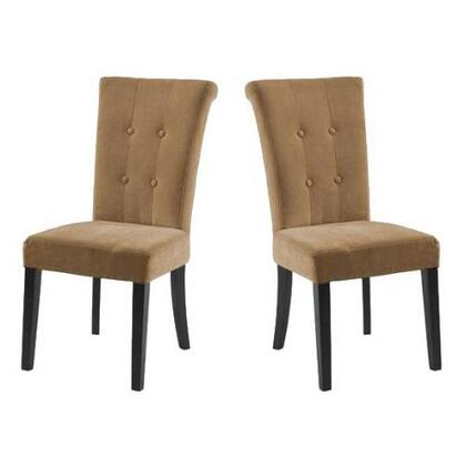 Armen Living LC3142SIMFX Tuxford Side Chairs with Button-tufting Detail and Fabric Finish in