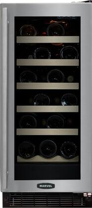 """Marvel 30WCMBSGLR 14.875"""" Built In Wine Cooler, in Stainless Steel"""