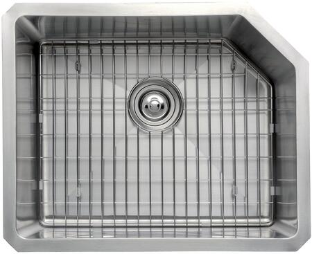 """Kraus KHU12123KPF21SD20 Precision Series 23"""" Single-Bowl Kitchen Sink with Stainless Steel Construction, Soundproofing, and Included Kitchen Faucet"""
