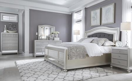 Milo Italia BR731KPBDM2NC Conley King Bedroom Sets