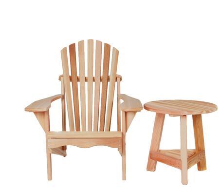 All Things Cedar TP22USET  Cedar Aidrondack Chair