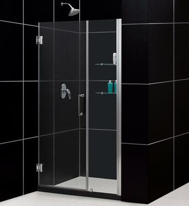 DreamLine SHDR-20477210S Unidoor Frameless Hinged Shower Door With Reversible For Right Or Left Door Opening, Self-Closing Solid Brass Wall Mounted Hinges (5 Degree Offset) & In