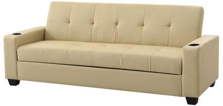 Glory Furniture G177S Buxton Series Convertible Faux Leather Sofa