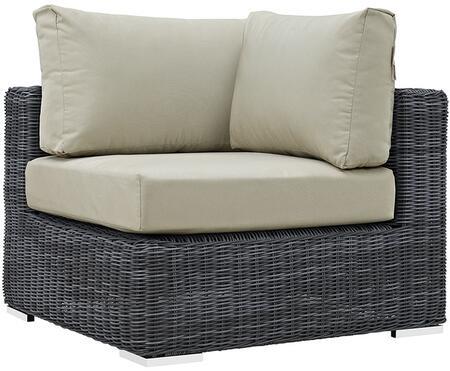 Modway EEI1870GRYBEI Summon Series  Aluminum Frame  Patio Chair