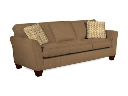 """Broyhill Maddie Collection 6517-3QX 87"""" Sofa with Fabric Upholstery, Flared Arms, Piped Stitching and Contemporary Style in"""