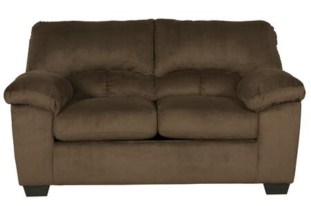 Loveseat in Chocolate Brown
