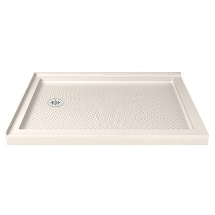 "DreamLine Template: DLT-1034481-22 Slimline 34"" D X 48"" W X 2 3/4"" H Left Drain Double Threshold Shower Base In Biscuit"