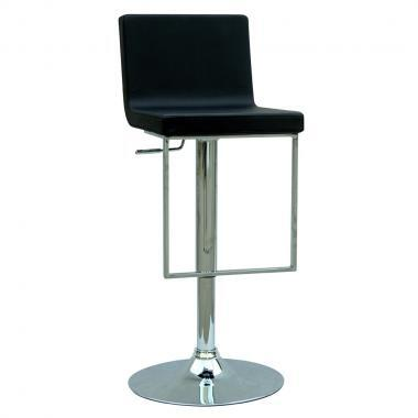 Chintaly 0351ASBLK  Bar Stool