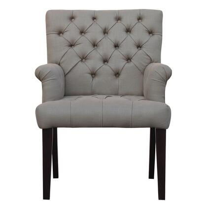 Home Trends & Design G206SLVA06D  Linen Wood Frame Accent Chair