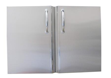 Sunstone DD Signature Series Double Access Doors with Shelves in Stainless Steel