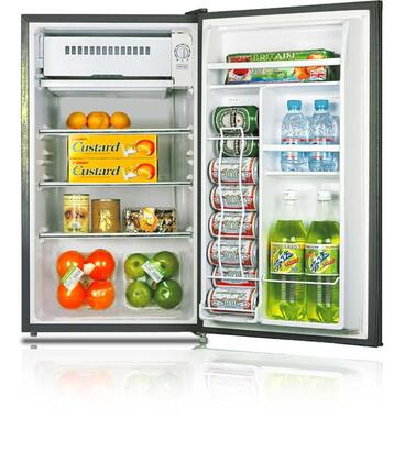 Avanti RM3361B  Freestanding Compact Refrigerator with 3.3 cu. ft. Capacity, 3 Glass ShelvesField Reversible Doors