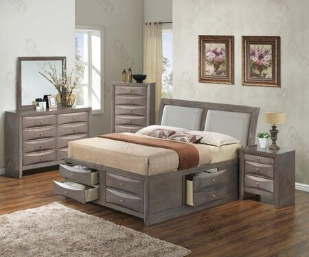 Glory Furniture G1505IFSB4DMN G1505 Full Bedroom Sets