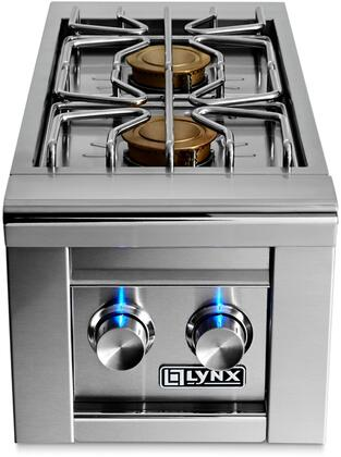 Lynx LSB2-2 Double Side Burner Grill With Two 15,000 BTU Brass Burners, Hot Surface Ignition System & Stainless Steel Cover