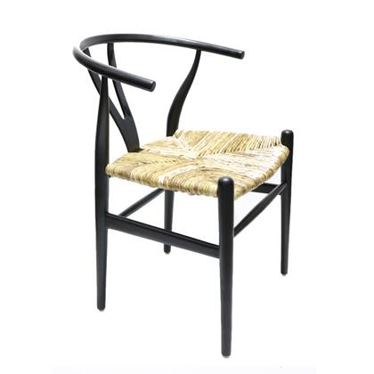 Fine Mod Imports FMI4004BLACK Woodstring Series Modern Not Upholstered Wood Frame Dining Room Chair