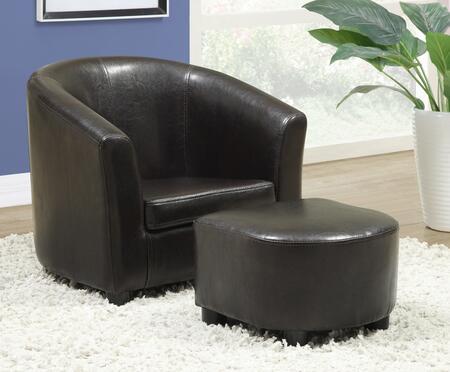 Monarch Juvenile Brown Chair and Ottoman