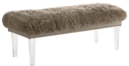 EdgeMod EM233SND Shepherd Series Accent Armless Wood Fabric Bench