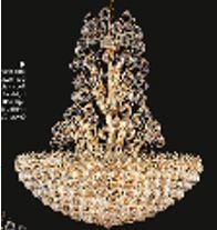 """J & P Crystal Lighting Firework Collection 99005D28 28"""" Wide Chandelier in X Finish"""