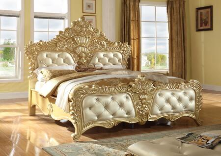 Meridian ZELDAKQ Panel Bed in Gold