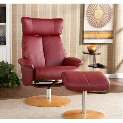 Holly & Martin 85039046130 Transitional Bonded Leather Metal Frame  Recliners