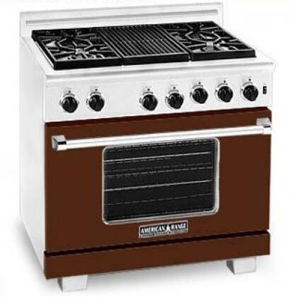 American Range ARR364GRLHB Heritage Classic Series Liquid Propane Freestanding Range with Sealed Burner Cooktop, 5.6 cu. ft. Primary Oven Capacity, in Brown