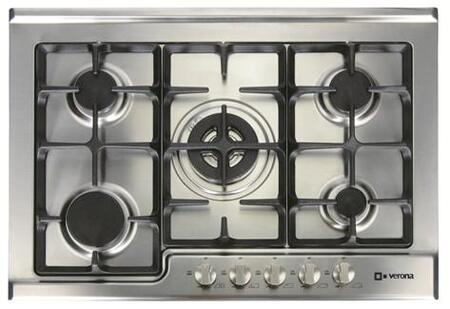 Verona VECTG532FS  Stainless Steel Gas Sealed Burner Style Cooktop