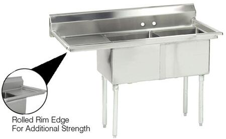 2 Compartment Sink   Left Side Drainboard